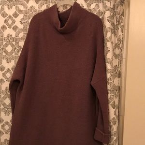 Free People Slouchy Ottoman Tunic Brown Size M